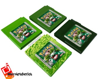 Custom Nintendo Gameboy Pokemon Green Cartridge ENGLISH with New Save Battery by 8bitAesthetics