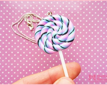 Kawaii Pastel Goth Lollipop Necklace by Dolly House