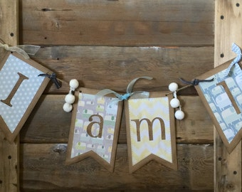Adorable homemade banner for your little guy's 1st birthday party!