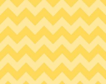 Yellow Tone on Tone Medium Chevron Fabric by Riley Blake Designs. 100% cotton, Yellow Zig Zag C380-51