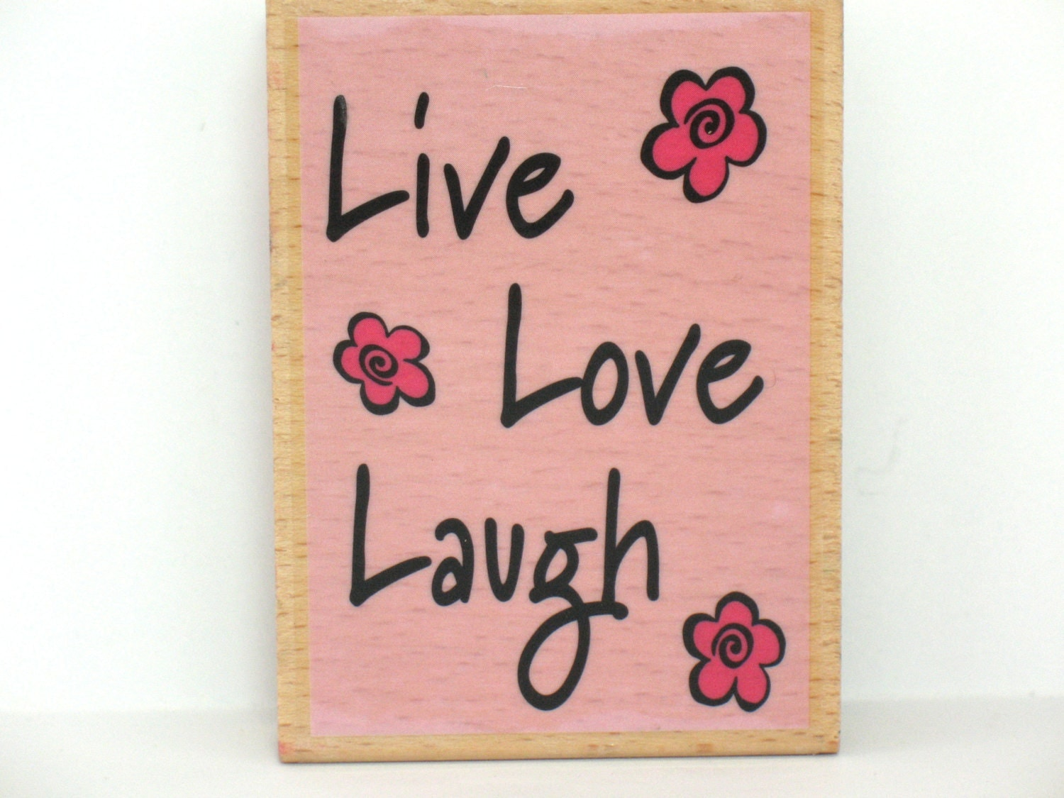 Quotes Rubber Stamp Live Love Laugh Rubber Stamp Craft Rubber Stamp Happy Scrapbooking Sold by FindingMaineVintage