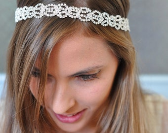 Bridal Headband,Bridal Crystal Headband, Bridal Headpiece, Wedding Headband, Wedding Head Piece, Crystal Headband