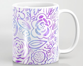 Flowers, Gift Ideas, Purple Flowers, Blue Flowers, Coffee Mugs, Pink Flowers, Coffee Mug, Custom Coffee Mugs, Cool Coffee Mugs, Tea Mugs