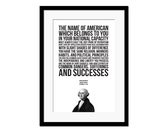 the inspiring nature of george washingtons farewell address George washingtons farewell address covers details of his address, including what he thought was good for the country, warnings he gave the country, what a precedent .