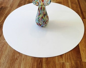 Round Worktop Saver in White Acrylic - 3 Sizes Available (3mm thick)