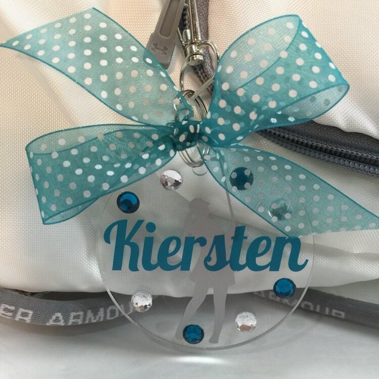 Golf Girl Bag Tag Gift For Golfer Golf Decor Sports By