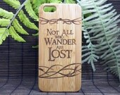 Not All Who Wander Are Lost iPhone 5 or 5S iPhone SE Case. Lord of the Rings Quote Nomad JRR Tolkien Fan Gift Bamboo Wood Cover iMakeTheCase