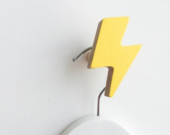 Wall Hook Lightning Bolt Yellow