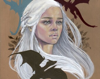 Mother of Dragons- Print