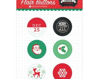 Echo Park Flair Buttons - Christmas Cheer