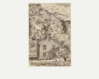 Etching / Original / Etching with Chine Collé, Tea Bag / Copper Plate