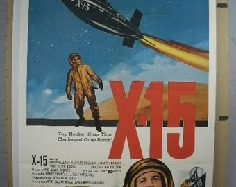 "Movie Poster  ""X-15""    Original Movie Poster    1961"