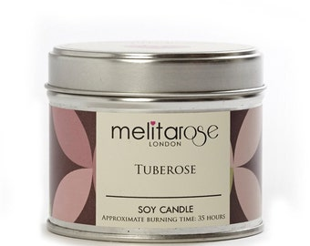 Tuberose Soy Scented Candle Tin