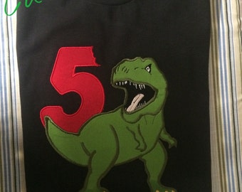 TRex Dinosaur Birthday Shirt- Boys and Girls
