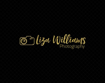 Premade Photography Logo + Watermark with Camera - L015