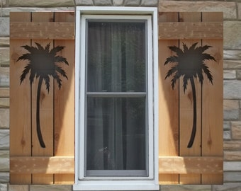 Palm Trees on Shutters