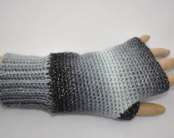 Ladies crocheted fingerless gloves, mittens