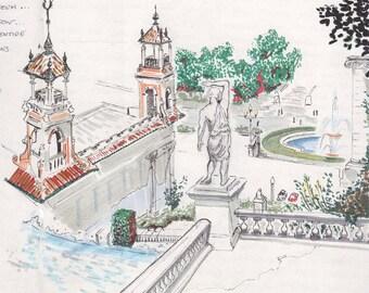 Sketch: MNAC Steps, Barcelona