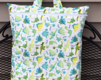 """XL WET BAG- Hanging Wet bag, Waterproof, Washable and Reusable- Size 20""""x14"""""""