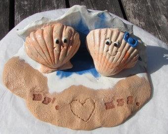 Sea Shell Wedding Cake Topper, Sea Shell Mr. & Mrs., Ocean Cake Topper, Beach Cake Topper, Sea Cake Topper, Sea Shell Wedding, Beach Wedding