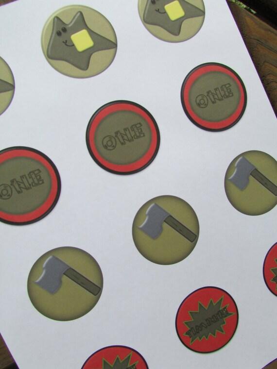Printable Lumberjack Cupcake Toppers Lumberjack by ...