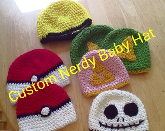 Custom Nerdy Baby Hat