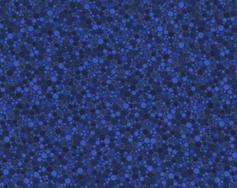 RJR Patrick Lose Basically Patrick Dark Blue mottled hexagon fabric 2034-010 BTY