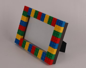 4x6 LEGO (R) Picture Frame Red, Green, Yellow, and Blue