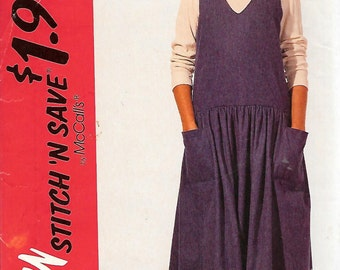 McCall's Stitch 'n Save Pattern 7207 JUMPER & KNIT TOP Misses 14 16 18 20