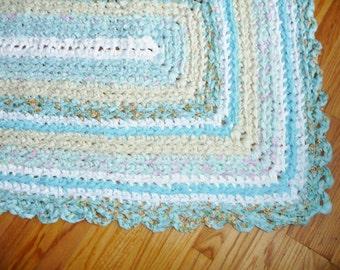 Turquoise Rag Rug Etsy Uk