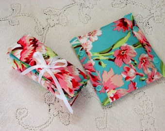 Carseat Strap Covers - Love Bliss Bouquet Teal OR Love Bliss Emerald - Infant Carseat Strap Covers w/ Snaps, Shabby Chic Coral & Teal Floral