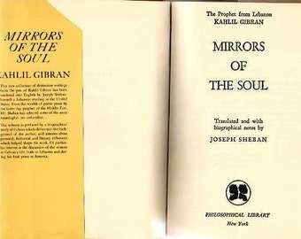 vintage book    Mirrors in the Soul   by Kahlil Gibran