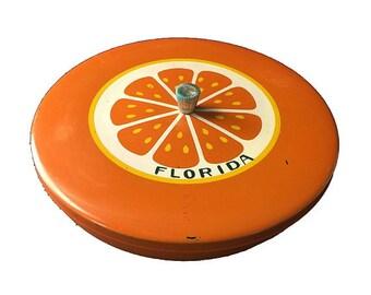 Vintage Florida Souvenir, Orange, Divided Candy Dish, Made in Japan, Vintage