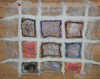 Felted wall decor Felted art Home accessory merino wool, Mulbery silk