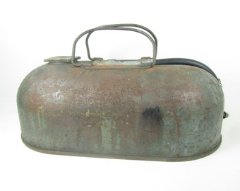 Vintage Boat Gas Tank, Boat Fuel Tank, farmhouse decor, Lake House Decor, Metal can, Rusty Gas Can