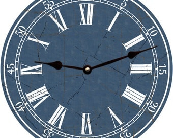 Navy Blue Clock