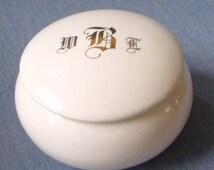 Round White Porcelain Dresser Box