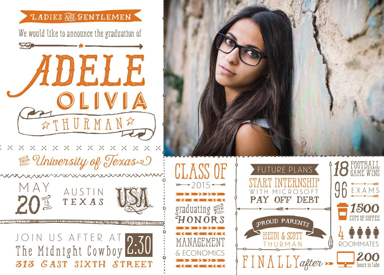 Photo Graduation Announcements - Infographic Graduation Cards ...