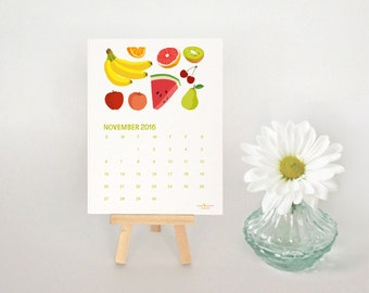 2016 Desk Calendar, Illustrated Food