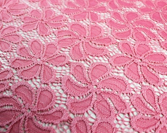 Coral Light Shance Pattern Lace Fabric  - 561-CORAL-LIGHT