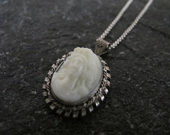 Kamea necklace,Filigree necklace, Silver necklace,Vintage necklace ,Israel jewelry,Kamea jewelry