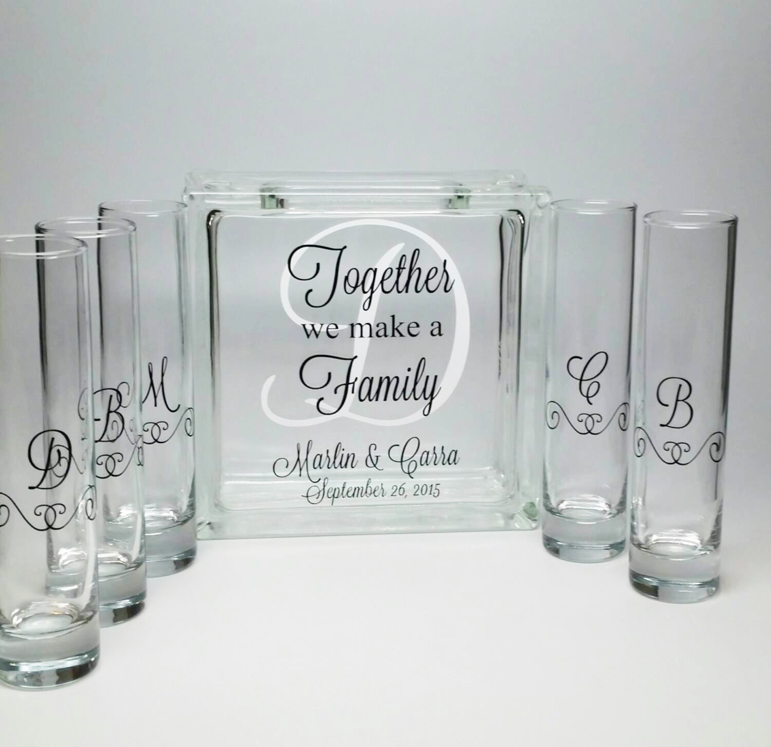 Family Picture Ideas For Wedding: Blended Family Sand Ceremony Set Unity Candle Alternative