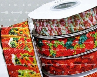 CLEARANCE Sale, Food Ribbon 3 Yards YOU Pick Food for Thought Realistic Food Print Ribbon USDR Quality Ribbon