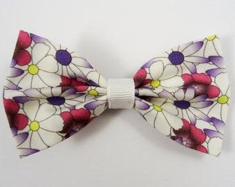 Flowers Hair Bow (Modern Floral Hair Bow)