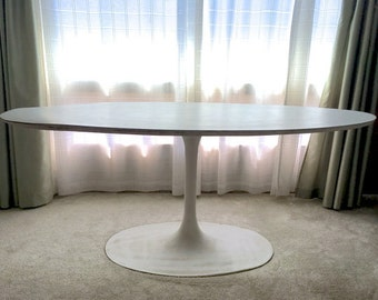 "Mid Century Oval Tulip Table 72"" Local Pick Up Sunnyvale, California"