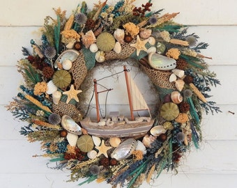 Beach wreath | Etsy