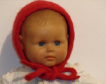 Felted Red Riding Hood cap for babies