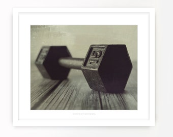 Vintage Weights No. 2 {Dumbbell/Fitness Art}