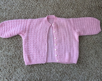 Vintage Hand Knit Children's Cardigan - 2T