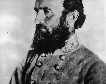 "Confederate General Thomas ""Stonewall"" Jackson, Civil War,  Photo Print"